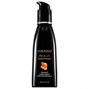 Лубрикант с ароматом спелого персика Wicked Aqua Sweet Peach - 60 мл.
