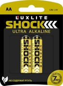 Батарейки Luxlite Shock (gold) типа аа - 2 шт.