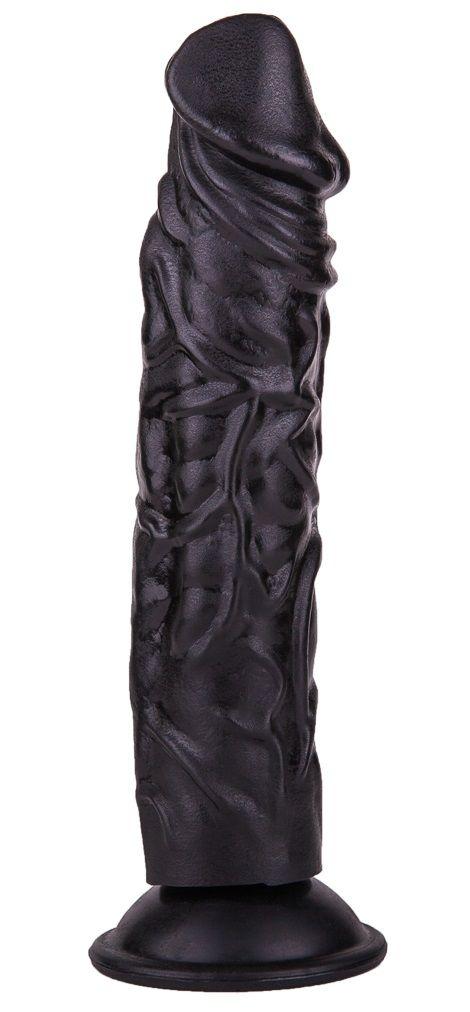 Чёрный фаллоимитатор без мошонки - 19,5 см.