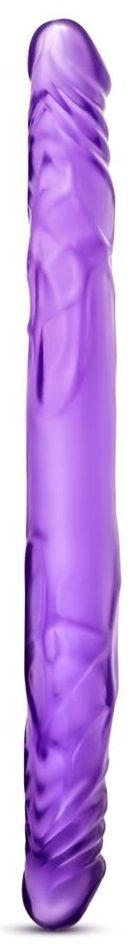 Фиолетовый двусторонний фаллоимитатор 14 Inch Double Dildo - 35 см.