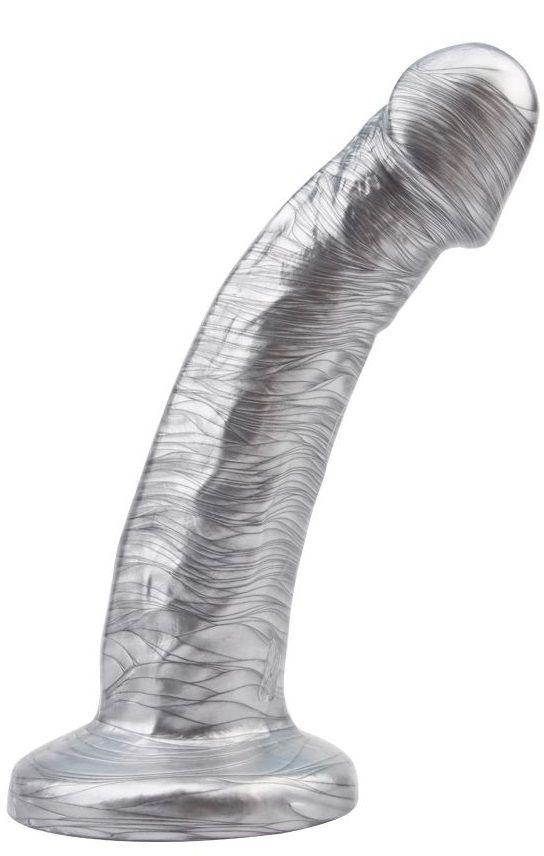 Серебристый фаллоимитатор Dixon Cider - 18,5 см.