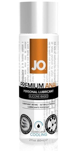 Анальный охлаждающий лубрикант на силиконовой основе Jo Premium Anal Cooling - 60 мл.